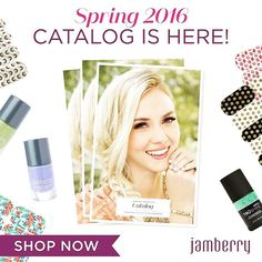 It\'s finally here!!!!!  Start shopping from our new Jamberry catalog now at ginasabalone.jamb... & follow my FB page, Jams Rock with Gina, for more tips, tricks & previews!!  #jamberry #jamberrynails #newcatalog #spring #summer #nailproducts #shopnow #dontmissout #naillacquer #naildesign #nailart #nailwraps #nails #instanails #gelnails #trushinejn