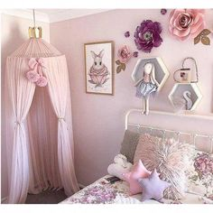 - Girls Princess Bed Canopy Round Dome Children Mesh Gauze Mosquito Net Hanging Curtain for Kids Bedr - Teen Pink, Pink Kids, Kids Girls, Princess Canopy Bed, Pink Princess Room, Princess Theme Bedroom, Kids Curtains, Net Curtains, Mosquito Curtains