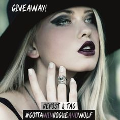 If you want to #win our 'Occult' midi #ring and a whopping 5 other gifts, simply ✴ follow ✴ repost and ✴ tag #gottawinrogueandwolf! 😸✌ There's a ton of other ways you can enter over on our blog, make sure you check that out too for more chances to be 1 of our 5 winners! 💲✨⭐⭐ ▶▶//BLOG: therogueandthewolf.com/blog/