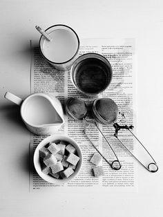 thè, zucchero e latte