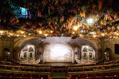 """These are the very last remaining Edwardian stacked theaters in the world. Located in Toronto, Ontario, Canada. The Winter Garden Theatre is seven storeys above the Elgin Theatre. See you Tuesday for the premiere of """"Learning To Drive. Ontario, Come From Away, Winter Garden Theatre, Toronto Film Festival, Garden Lanterns, London Theatre, Theatre Stage, Winter Images, Festival 2016"""