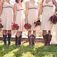 Country wedding idea- bridesmaids