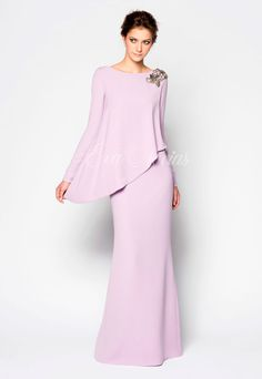 Dress fista or godmother of the firm Victoria collection 2017 model Alegria in … Hijab Fashion, Fashion Dresses, Hijab Stile, Mothers Dresses, Groom Dress, Bridesmaid Dresses, Wedding Dresses, Mother Of The Bride, Peplum Dress