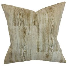 Cotton down-filled throw pillow with a wood grain motif.  Product: PillowConstruction Material: Cotton cover and down...