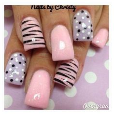 Latest 80 Simple Nail Art Designs for Short Nails 2015 ❤ liked on Polyvore