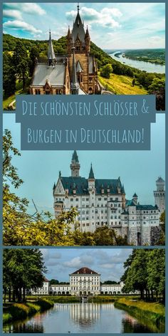 My selection of the most beautiful castles in Germany! - Sophia& world - The most beautiful palaces and castles in Germany. Castles In Ireland, Germany Castles, Europe Destinations, City Breaks Europe, Solo Travel Europe, Neuschwanstein Castle, Reisen In Europa, Beautiful Castles, Ireland Travel