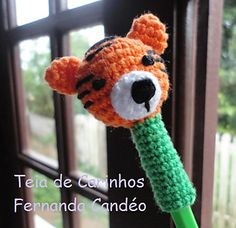 Tiger Pencil Topper by Fernanda Candeo - free