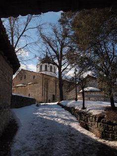 The Assumption of Holy Virgin church with its bell tower in the mountain town of Elena, Bulgaria