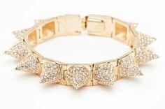 CC SKYE Punk Princess Pave Spike Bracelet in Gold