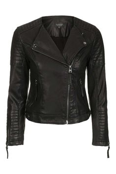 Quilted Faux Leather Biker - WHAT YOU SHOULD HAVE GOT FOR CHRISTMAS - We Love - Topshop