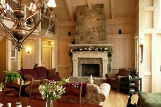 stone fireplaces with raised hearth - Google Search
