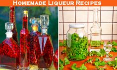 Make your own flavored liqueurs using assorted fruits, herbs, citrus peels and flowers (as long as they are edible)! If you want to prepare them for gift-giving, keep in mind they'll need to steep for at least a few weeks (with some recipes requiring up to 3 months). Top your chosen ingredients with vodka or brandy and let the flavors infuse the alcohol.