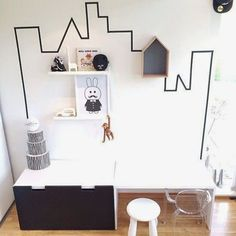 mommo design: BLACK AND WHITE IKEA HACKS FOR KIDS