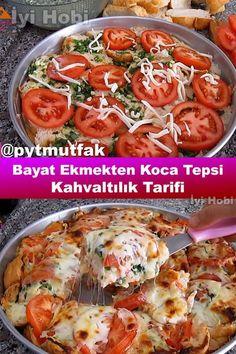 Breakfast Bread Recipes, Breakfast Menu, Breakfast Items, Snack Recipes, Cooking Recipes, Turkish Kitchen, Stale Bread, Turkish Recipes, Food Design