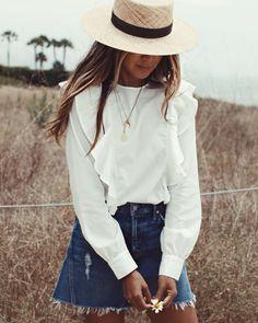 "JULIE SARIÑANA on Instagram: ""Wild flower. / Colette top @shop_sincerelyjules shop now: shopsincerelyjules.com"""