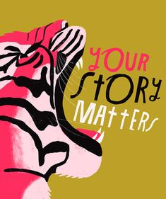 Your Story Matters - Lisa Congdon Archival Art Print Thing 1, Public Speaking, Sign Printing, How To Make Notes, Grafik Design, Your Story, Hand Lettering, Digital Prints, Lisa