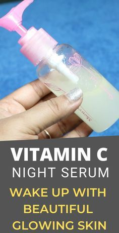 DIY Vitamin C Serum Recipe for Wrinkles and Age Spots!- DIY Vitamin C Serum Recipe for Wrinkles and Age Spots! – Glowpink DIY vitamin C night serum that will hide all aging signs on your face, wake up with beautiful younger looking skin - Diy Skin Care, Skin Care Tips, Vitamine C Serum, Beauty Skin, Health And Beauty, Diy Beauty Serum, Diy Vitamin C Serum, Les Rides, Younger Looking Skin