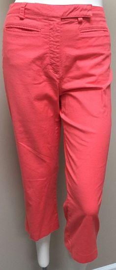 Tommy Hilfiger Golf Women's Coral Orange Capri Cropped Pants 4 | eBay