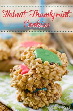Walnut Thumbprint Cookies - Krafted Koch - My favorite Christmas cookie recipe that everyone loves!