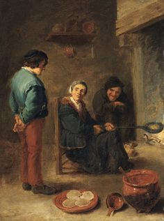 David Teniers d. J., DIE PFANNKUCHENBÄCKERIN, Auktion 1010 Alte Kunst, Lot 1034