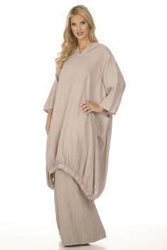 Linen Hooded Dress/Top (White)