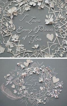 Valentine paper cut out