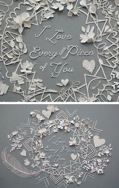 Valentine paper cut out