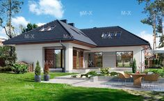 проект углового дома буква г - Поиск в Google Dream House Plans, Modern House Plans, Small House Plans, Modern House Design, Modern Bungalow House, Southern House Plans, Southern Living, Small Modern Home, Modern Farmhouse Exterior