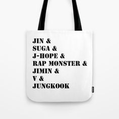 KPOP BTS Members Tote Bag
