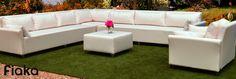 Consultanos sobre sofás para exterior a medida. Sofá Modelo Cíes. Outdoor Sectional, Sectional Sofa, Outdoor Furniture, Outdoor Decor, Chill, Exterior, Home Decor, Templates, Modular Couch