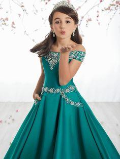 Tiffany Princes 13513 Off The Shoulder Pageant Dress Pagent Dresses For Kids, Girls Short Dresses, Little Girl Dresses, Cute Dresses, Beautiful Dresses, Flower Girl Dresses, Flower Girls, Party Dresses, Princess Dress Patterns