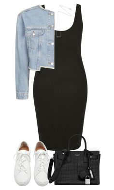 """""""Untitled #4413"""" by theeuropeancloset ❤ liked on Polyvore featuring Loeffler Randall, Topshop, Yves Saint Laurent and Estella Bartlett"""
