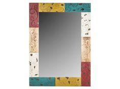 Multi-Color Wood Wall Mirror