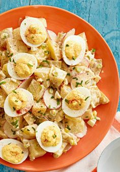 Eggy Potato Salad with Pickles | Snacks, Appetizers & Party Foods ...