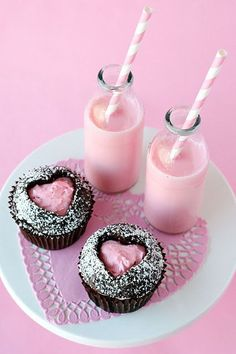 Fill your heart with love — literally! Use a heart-shaped cookie cutter to make a heart cutout on the top of a cupcake, and then fill it in with a little pink icing. Cupcakes are always sweet, but Glorious Treats' Valentine's Day cupcakes are divine.