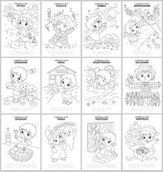 Le copertine dei mesi dell'anno con le immagini delle emozioni | Le news di Scuola da Colorare.it Story Sequencing, Emoticon, Chibi, Homeschool, Playing Cards, Dads, Coding, Education, Ornaments