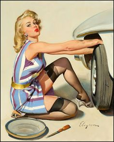 Quick Change!, Gil Elvgren, 1967