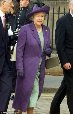 The Queen pictured at the opening