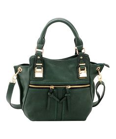 Look at this #zulilyfind! Green Zipper Convertible Tote by Adhesion, LLC #zulilyfinds