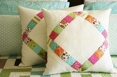 (7) Name: 'Quilting : Diamond Pillow