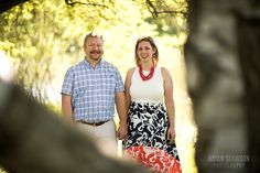 Photo by: Brian Slawson Photography. Engagement shoot. Red and black skirt. #summer