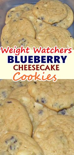 Great recipe for Blueberry Cheesecake Cookies. My dad calls these crack cookies because of how addicting they are! Weight Watchers Cheesecake, Weight Watcher Cookies, Weight Watchers Smart Points, Weight Watchers Desserts, Low Calorie Recipes, Ww Recipes, Cooking Recipes, Waffle Recipes, Ww Desserts