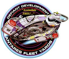 Ship patch of U.S.S. Defiant!