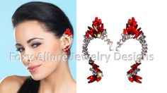 Elf Ear Cuff Elven Ear Cuff  Red Crystal Ear by FoxyAllureJewelry, $31.00