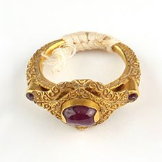 A Gold and Ruby Ring, Sukhothai Thailand 16th Century