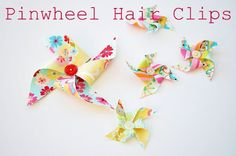 Fabric Pinwheel Hair Clip