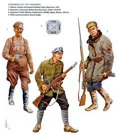 Latvian Communist Streltsi, Officer, Riga, May/June 1919. Polish military Organistion(POW), Volunteer, Upper Silesia, 1919-21 & Lithunian Savanoris, Volunteer, winter 1918/19