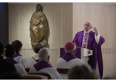 Pope Francison Tuesday encouraged Christians to get on with things, living life with joy. Speaking during thehomilyduring Mass at theCasa Santa Marta, he urged them to avoid complaining and not to let themselves be paralyzed by the uglysin of sloth.