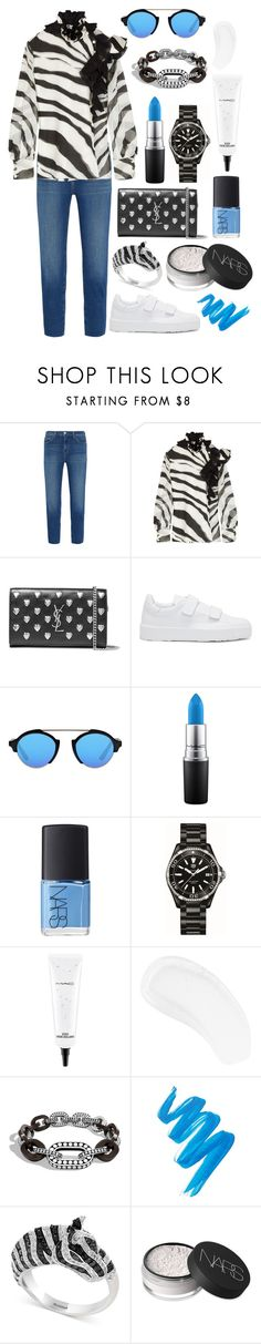 """""""It's not like it used to be between us."""" by theodor44444 ❤ liked on Polyvore featuring L'Agence, Lanvin, Yves Saint Laurent, Jil Sander, Illesteva, MAC Cosmetics, NARS Cosmetics, TAG Heuer, Temptu and John Hardy"""