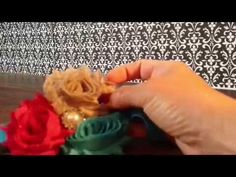 Video tutorial on how to make an adorable Shabby chic rolled flower elastic baby headband.  Vintage rolled flower headband for babies.  Supplies used in this video were purchased at:  www.boutiquesupplyco.com